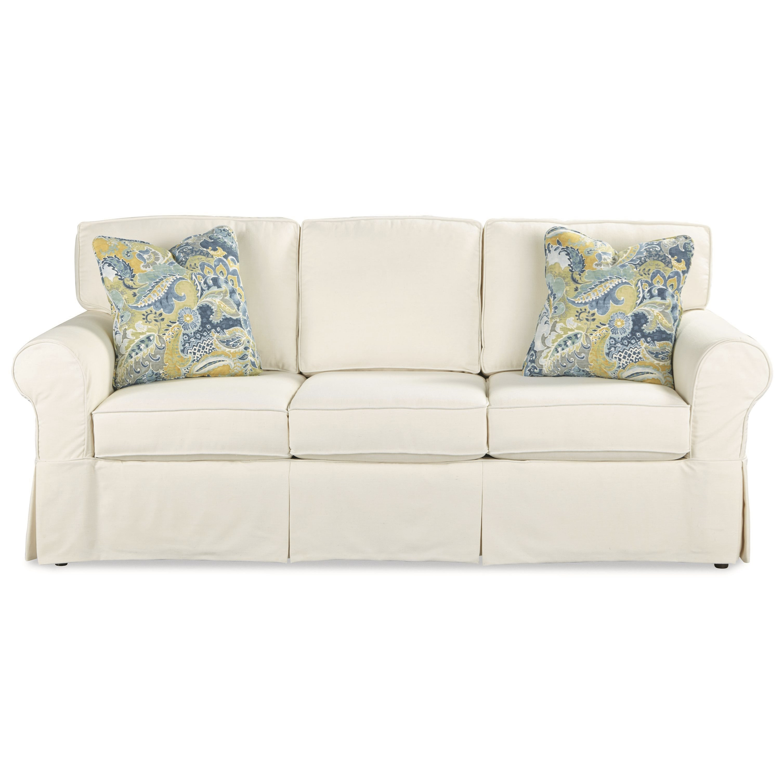 Best ideas about Queen Sleeper Sofa Mattress . Save or Pin Casual Slipcover Sleeper Sofa with Queen Innerspring Now.