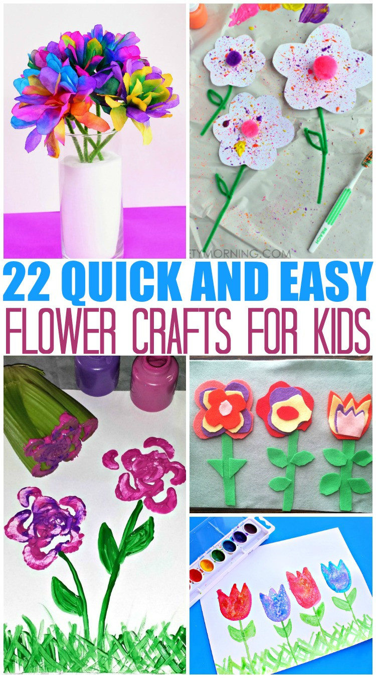 Best ideas about Quick And Easy Crafts For Kids . Save or Pin 20 Quick and Easy Flower Crafts for Kids The Mom Creative Now.