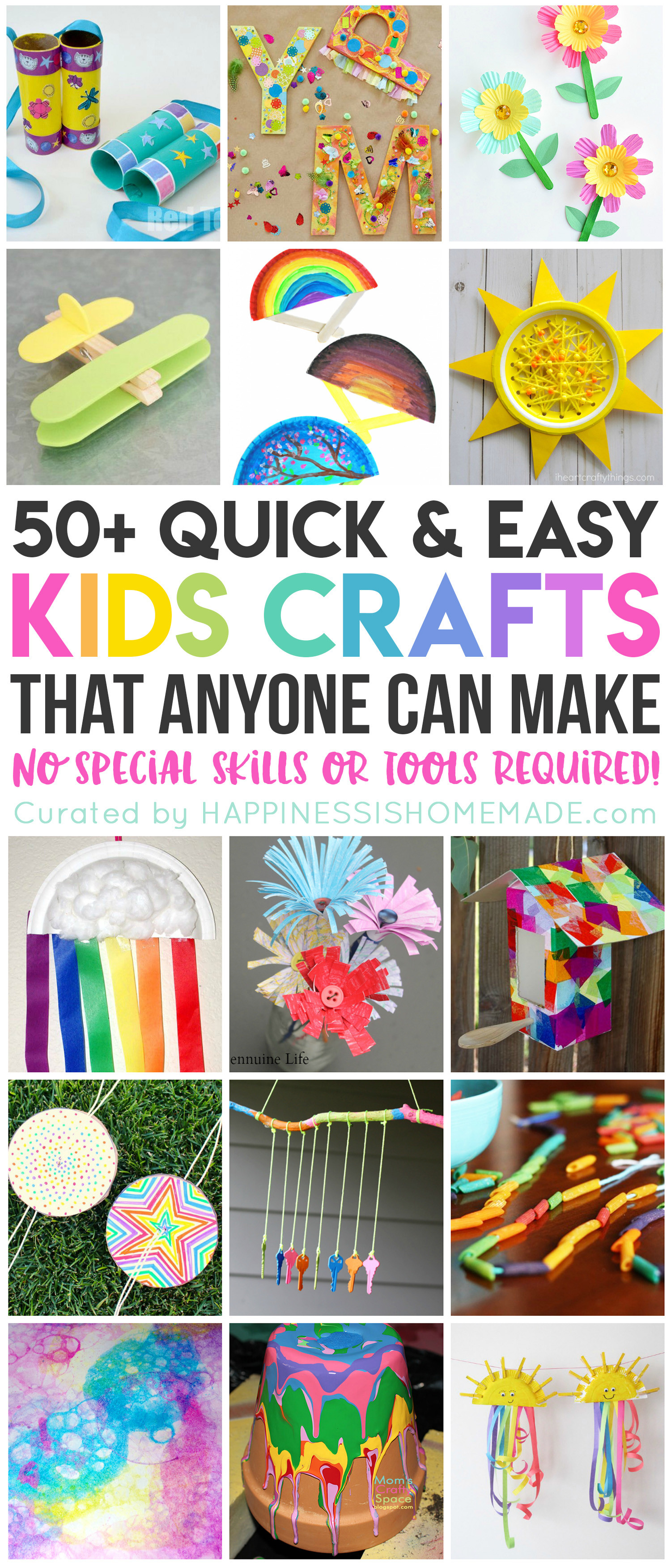 Best ideas about Quick And Easy Crafts For Kids . Save or Pin 50 Quick & Easy Kids Crafts that ANYONE Can Make Now.