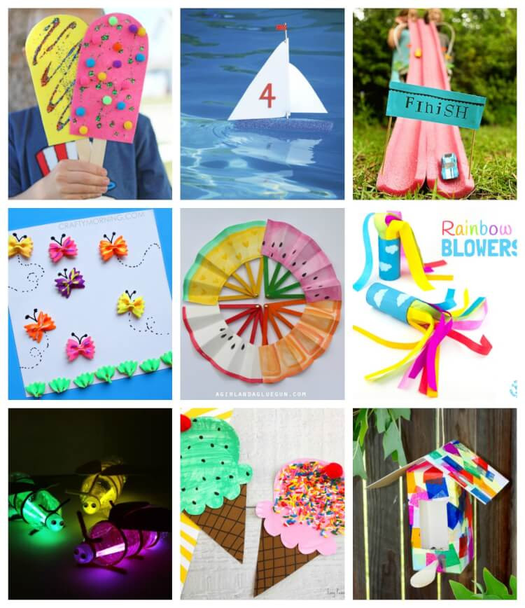 Best ideas about Quick And Easy Crafts For Kids . Save or Pin Easy Summer Kids Crafts That Anyone Can Make Happiness Now.