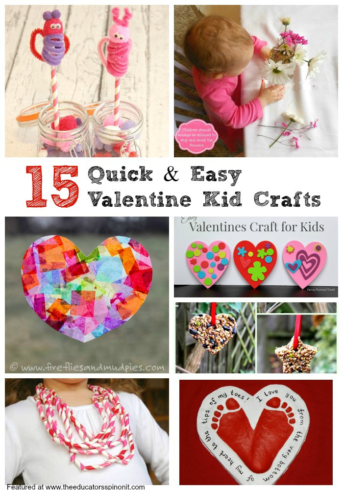 Best ideas about Quick And Easy Crafts For Kids . Save or Pin Easy Valentine s Day Crafts for Kids The Educators Spin Now.
