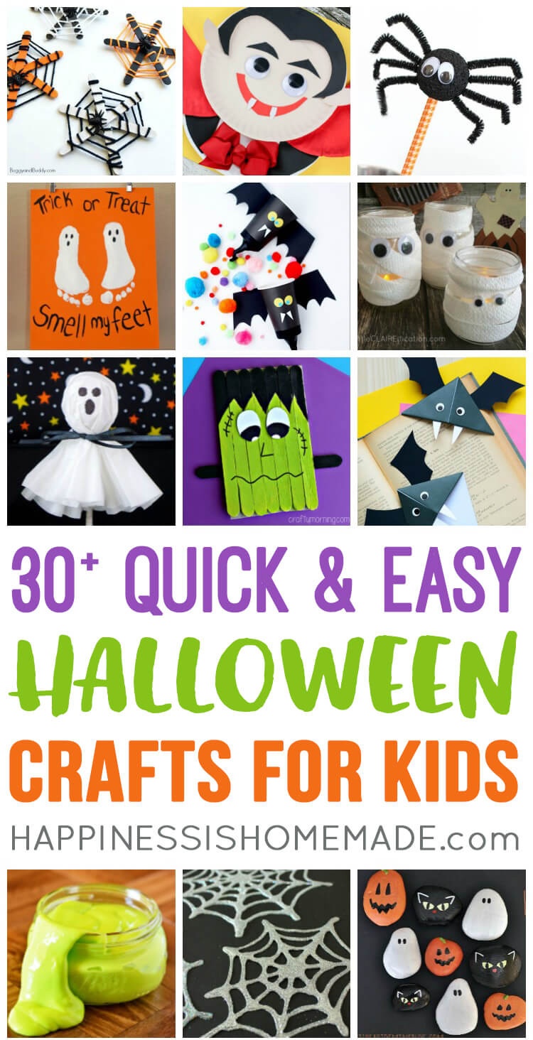Best ideas about Quick And Easy Crafts For Kids . Save or Pin Quick & Easy Halloween Crafts for Kids Happiness is Homemade Now.