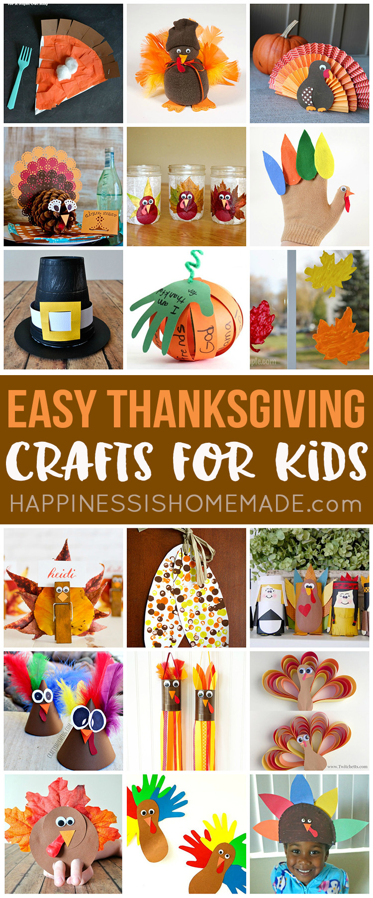Best ideas about Quick And Easy Crafts For Kids . Save or Pin Easy Thanksgiving Crafts for Kids to Make Happiness is Now.