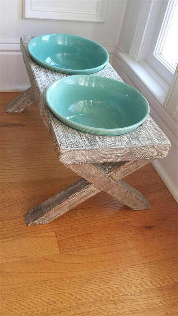 Best ideas about Raised Dog Bowls DIY . Save or Pin DIY Dog Feeding Station Ideas Your Pet Will Like Now.