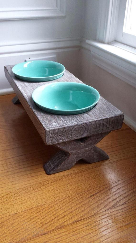 Best ideas about Raised Dog Bowls DIY . Save or Pin Raised Small Dog Bowl Dish Farm Table Elevated Stand Now.