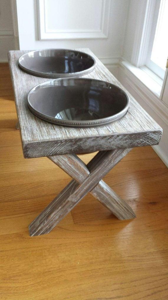 Best ideas about Raised Dog Bowls DIY . Save or Pin XL raised dog bowl feeder farm table elevated feeder Now.