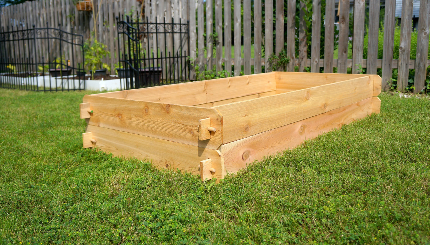 Best ideas about Raised Garden Planters . Save or Pin Raised Garden Planter Bed Flower Box Cedar Ve able Now.