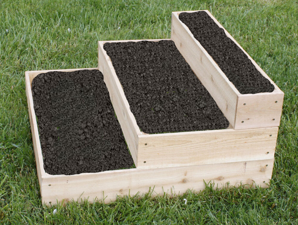 Best ideas about Raised Garden Planters . Save or Pin Cedar Planter Raised 3 Tier Planter Bed Free Shipping Now.