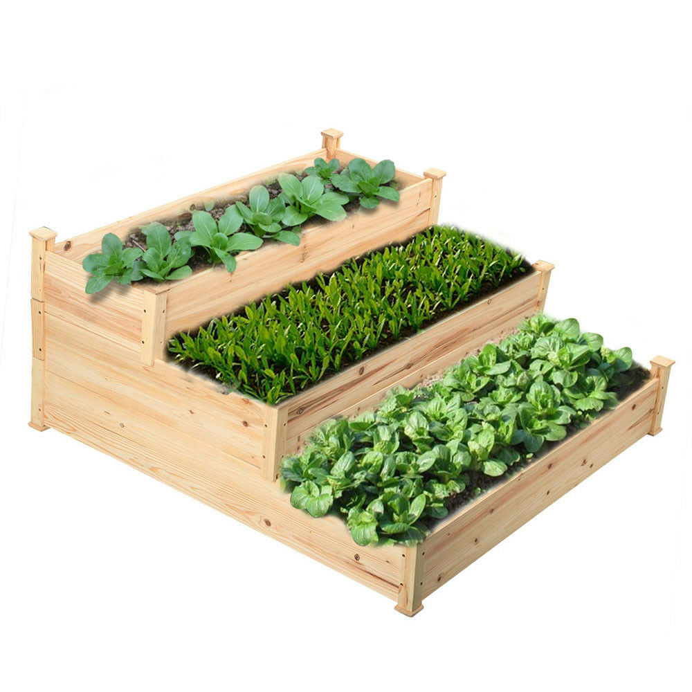 Best ideas about Raised Garden Planters . Save or Pin Wooden Raised Ve able Garden Bed 3 Tier Elevated Planter Now.
