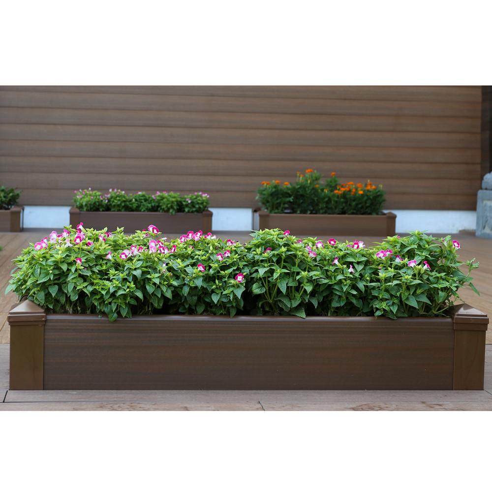 Best ideas about Raised Garden Planters . Save or Pin posite Lumber Rectangular Patio Raised Garden Planter Now.