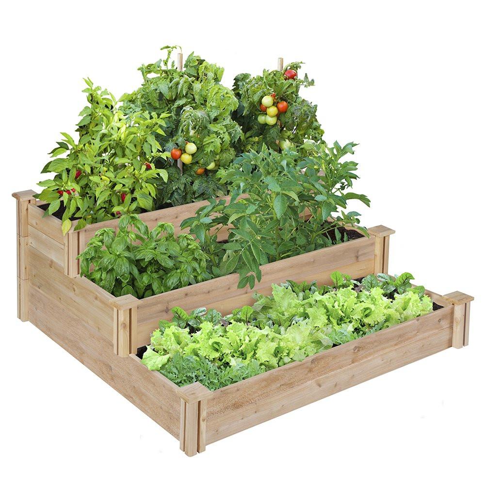 Best ideas about Raised Garden Planters . Save or Pin Tiered Raised Garden Bed Cedar Wood Planter Flower Box Now.