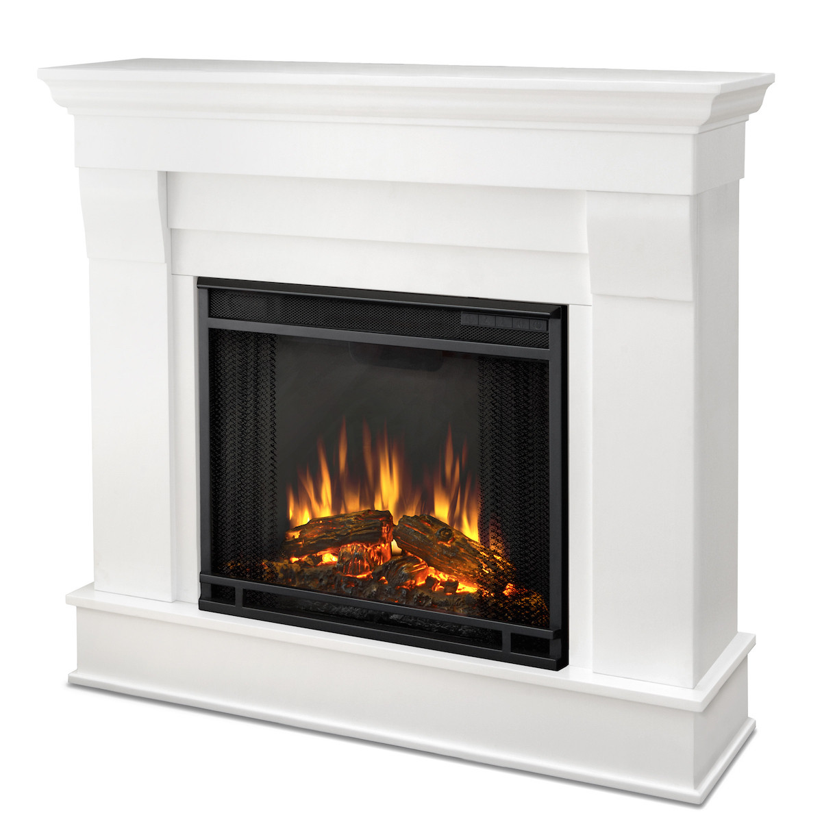 Best ideas about Real Flame Electric Fireplace . Save or Pin Real Flame Chateau Electric Fireplace in White Now.