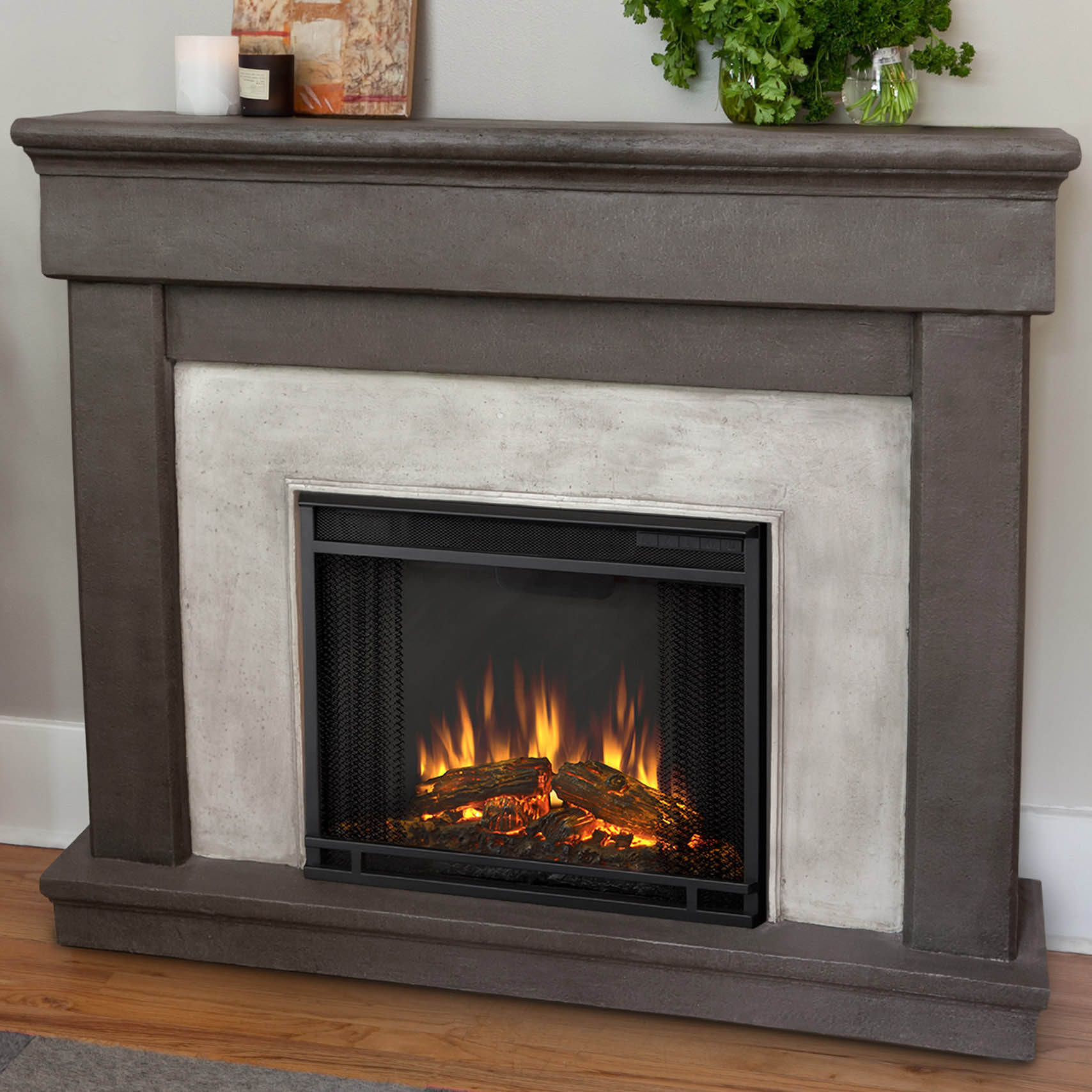 Best ideas about Real Flame Electric Fireplace . Save or Pin Real Flame Cast Mantel Cascade Electric Fireplace Now.