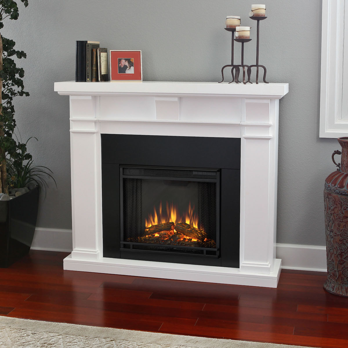 Best ideas about Real Flame Electric Fireplace . Save or Pin Real Flame Porter Electric Fireplace in White Now.