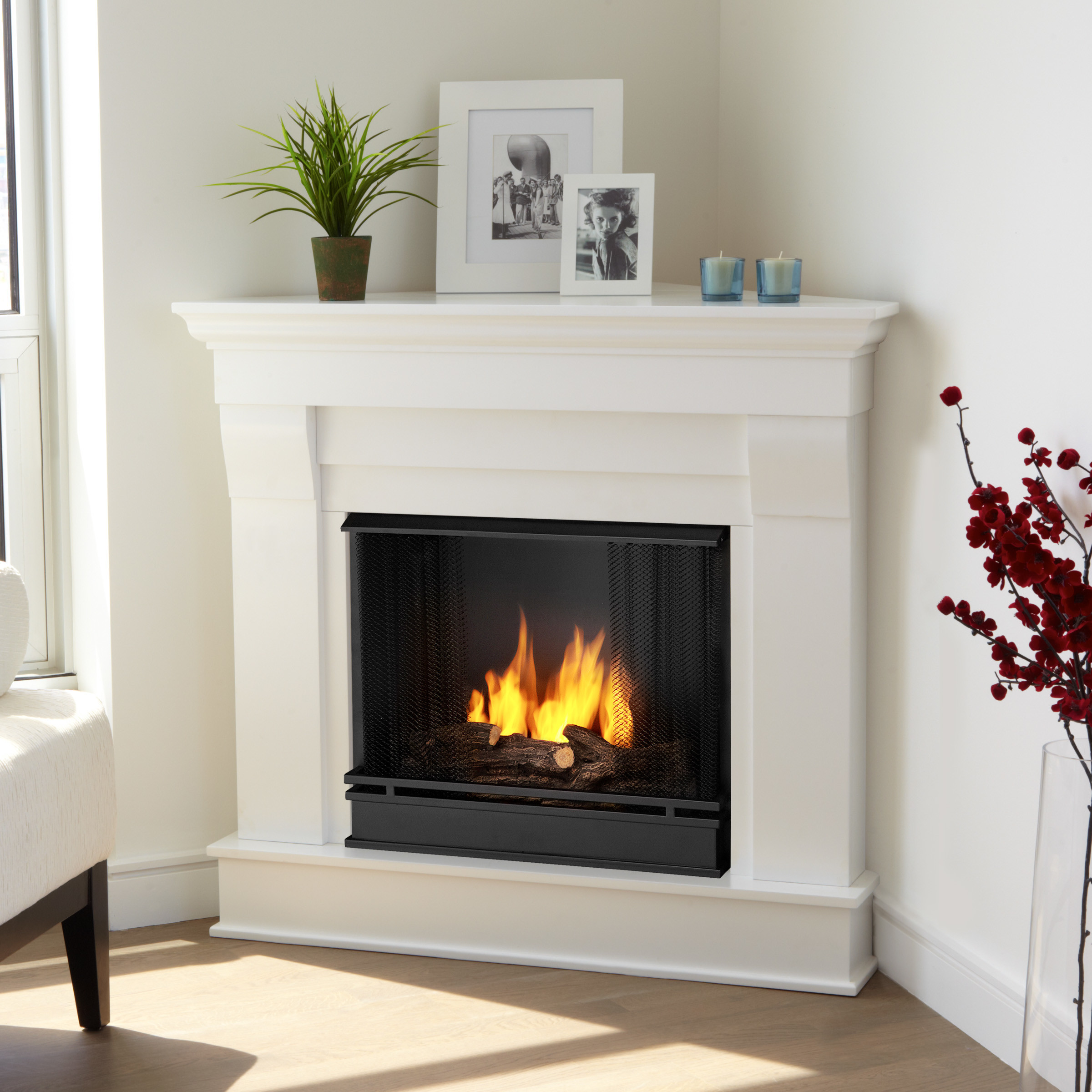 Best ideas about Real Flame Fireplace . Save or Pin Real Flame Chateau Corner Gel Fuel Fireplace & Reviews Now.