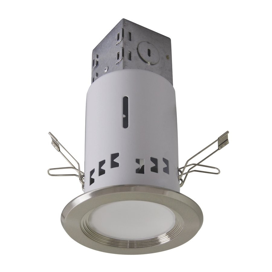 Best ideas about Recessed Lighting Led . Save or Pin Utilitech Pro Brushed Nickel LED Remodel Recessed Light Now.