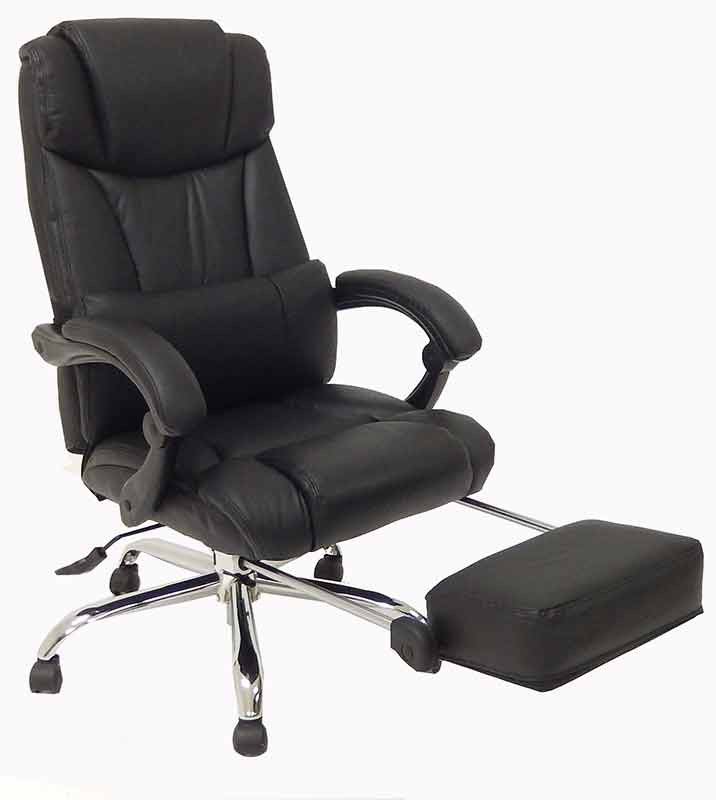 Best ideas about Reclining Office Chair With Footrest . Save or Pin Leather Reclining fice Chair w Footrest Now.