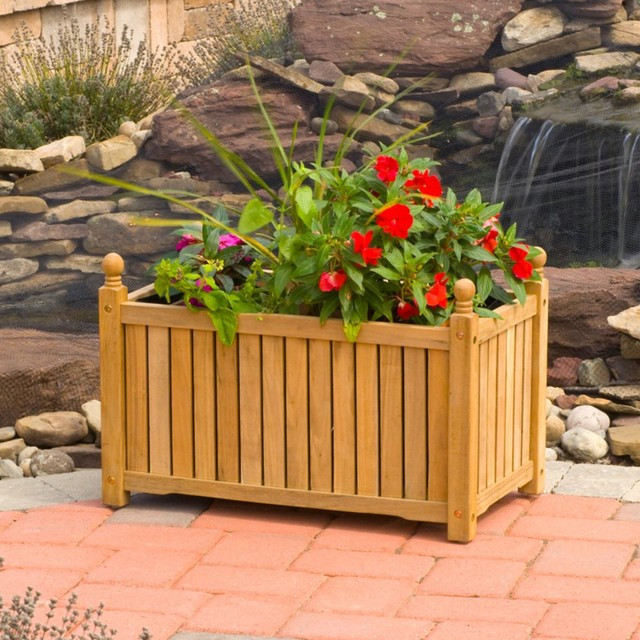 Best ideas about Rectangular Indoor Planter . Save or Pin 28 Inch Solid Wood Lexington Rectangular Planter Box Now.