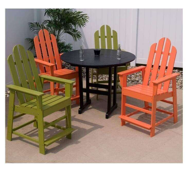 Best ideas about Recycled Plastic Patio Furniture . Save or Pin Long Island Recycled Plastic Patio Counter Chair from Now.