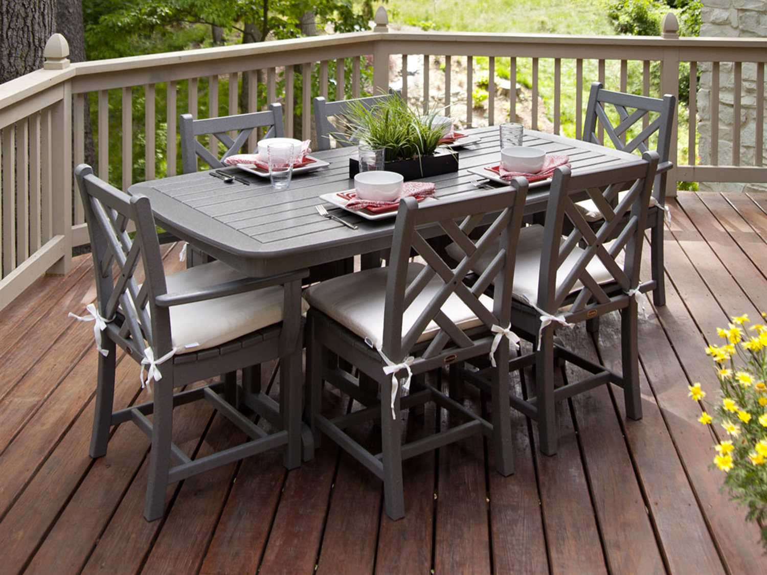 Best ideas about Recycled Plastic Patio Furniture . Save or Pin POLYWOOD Chippendale Recycled Plastic Dining Set Now.
