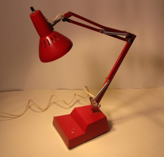 Best ideas about Red Desk Lamp . Save or Pin Vintage Cherry Red LEDU pixar Desk Lamp Anglepoise style Mid Now.