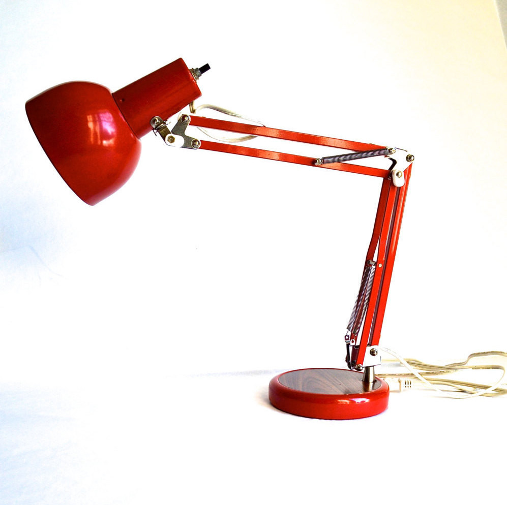 Best ideas about Red Desk Lamp . Save or Pin Bright Red Vintage Desk Lamp Vintage Articulating Lamp with Now.
