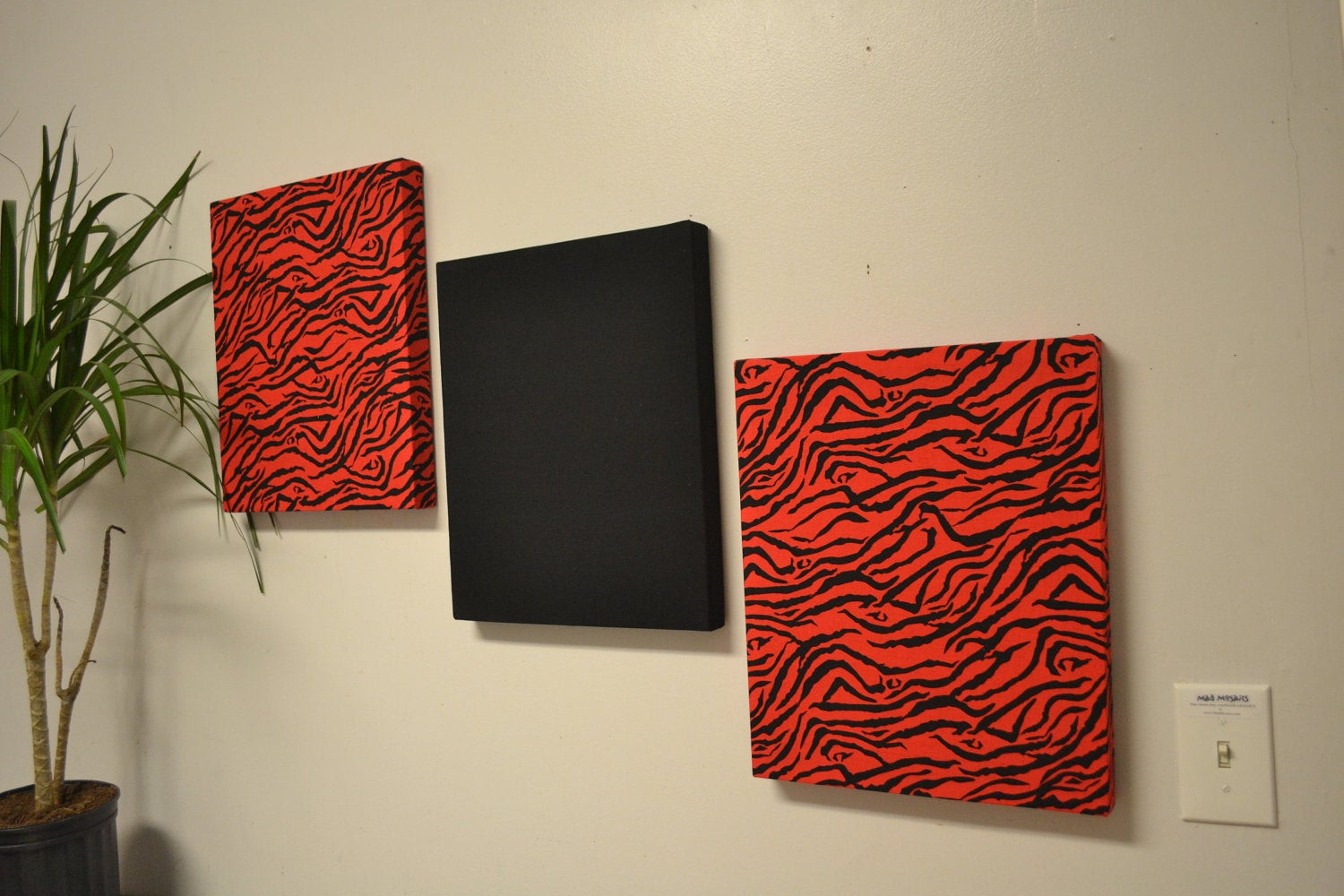 Best ideas about Red Wall Art . Save or Pin Red zebra wall decor canvas wall hangings black by MadMosaics Now.