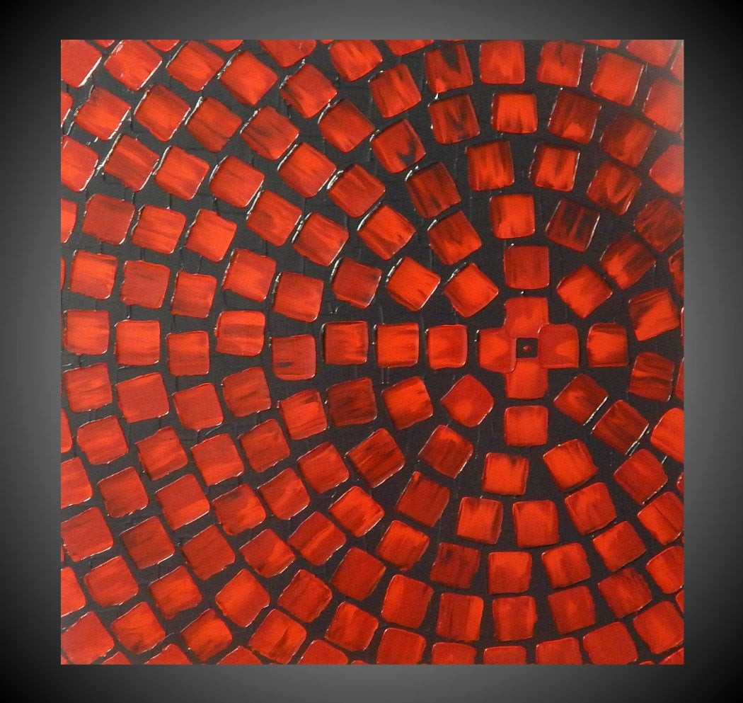 Best ideas about Red Wall Art . Save or Pin Red and Grey Painting on Canvas wall art Abstract Acrylic Now.