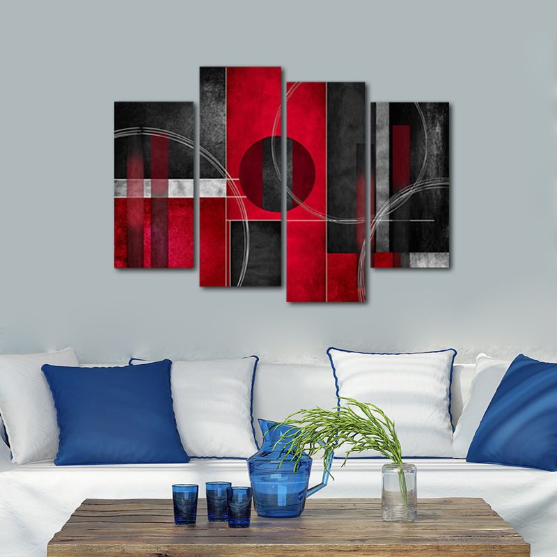 Best ideas about Red Wall Art . Save or Pin Framed Abstract Canvas Print Home Decor Wall Art Painting Now.