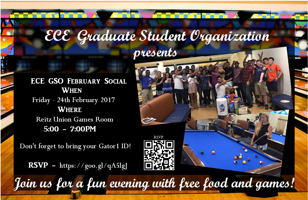 Best ideas about Reitz Union Game Room . Save or Pin ECEGSO February Social – ECE Graduate Student Organization Now.