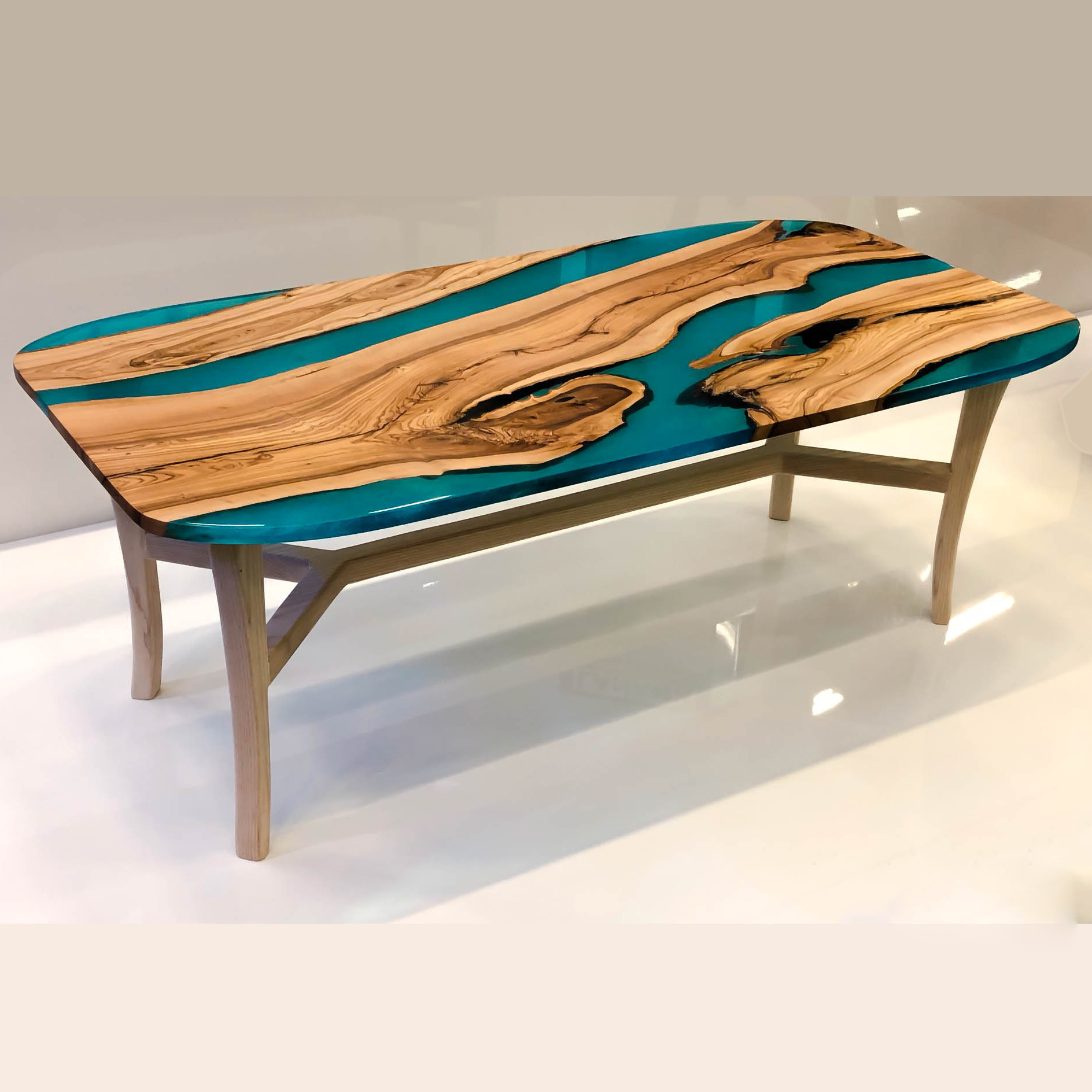 Best ideas about Resin Coffee Table . Save or Pin Aqua Resin Coffee Table Now.