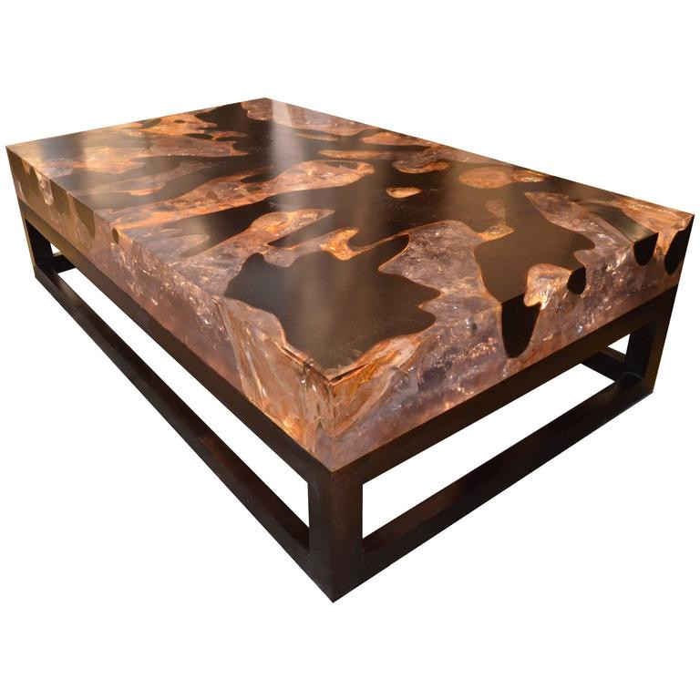 Best ideas about Resin Coffee Table . Save or Pin Cracked Resin Coffee Table with Base For Sale at 1stdibs Now.