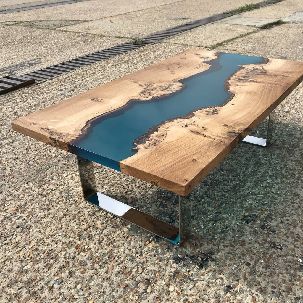 Best ideas about Resin Coffee Table . Save or Pin resin river coffee table with chrome legs by revive Now.