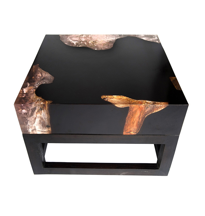 Best ideas about Resin Coffee Table . Save or Pin Cracked Resin Coffee Table With Base CR010 Andrianna Now.