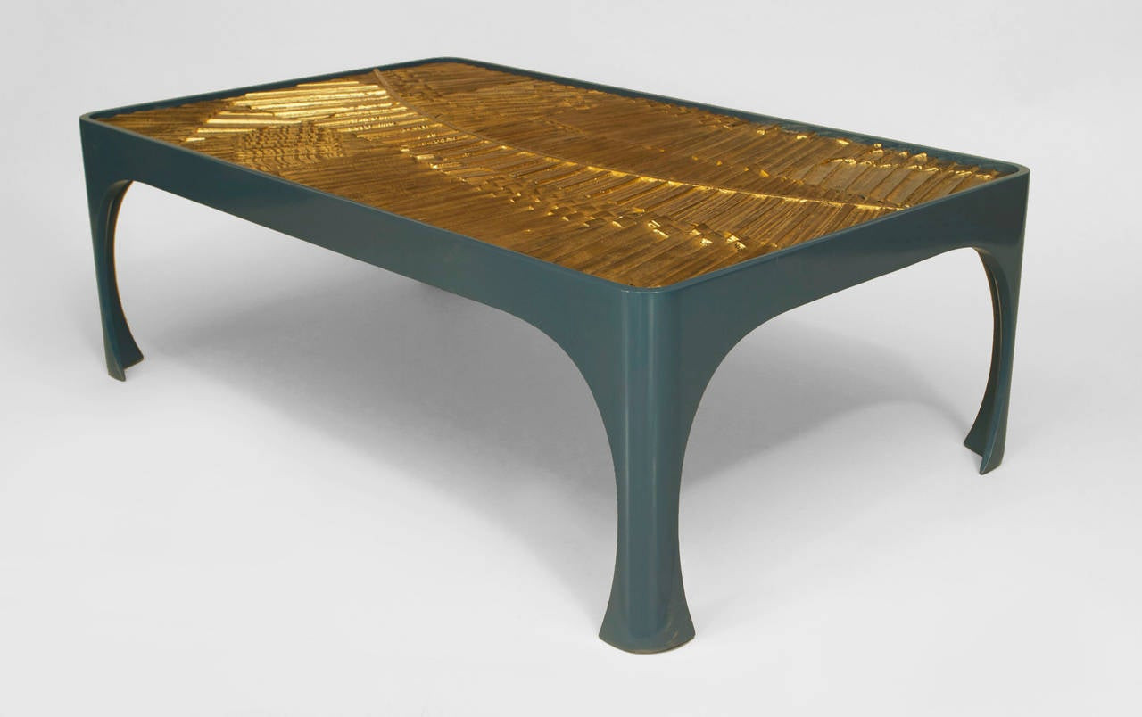 Best ideas about Resin Coffee Table . Save or Pin 1970s American Inset Gilt Resin and Lacquered Wood Coffee Now.
