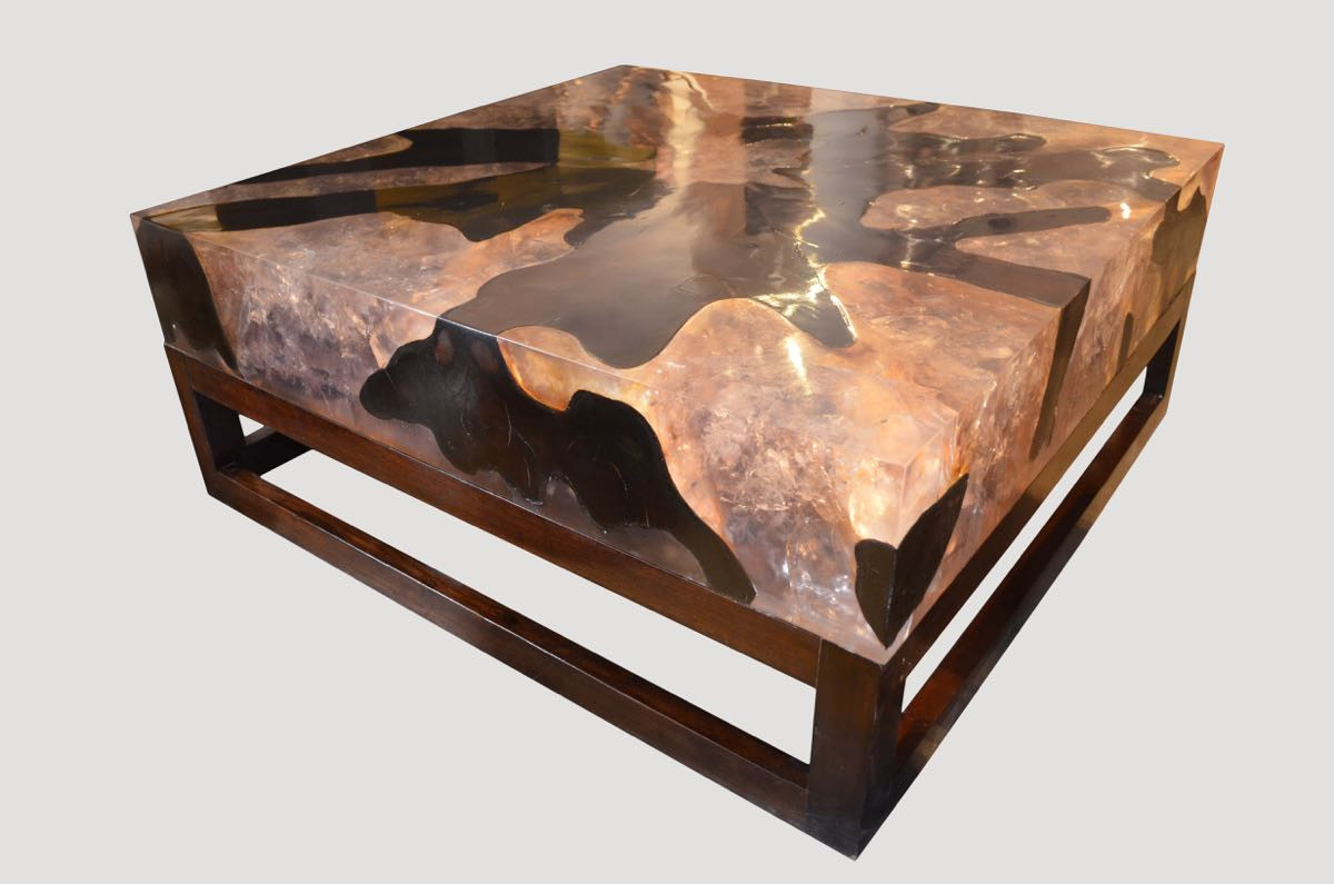 Best ideas about Resin Coffee Table . Save or Pin Cracked Resin Coffee Table CR45 Andrianna Shamaris Now.