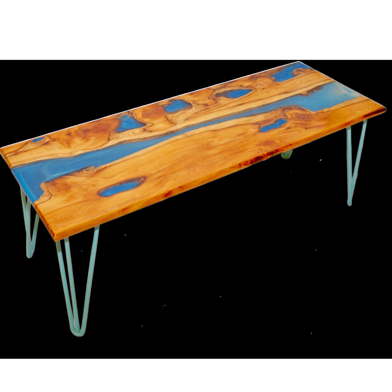 Best ideas about Resin Coffee Table . Save or Pin Live Edge Yew Wood & Resin Coffee Table Handmade in Suffolk Now.
