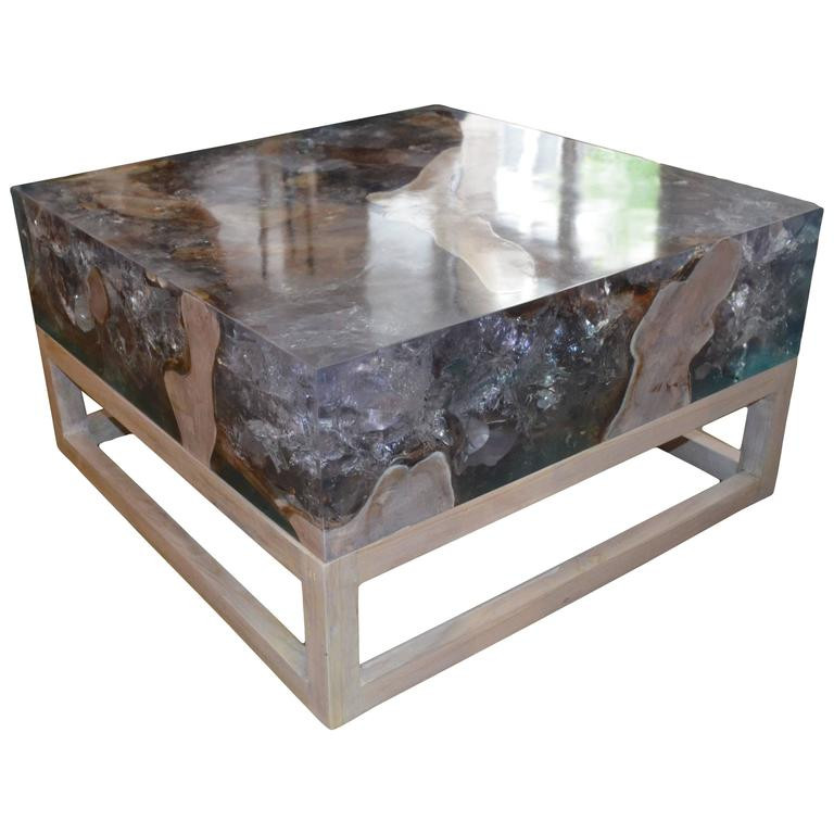Best ideas about Resin Coffee Table . Save or Pin Andrianna Shamaris St Barts Cracked Resin Coffee Table or Now.