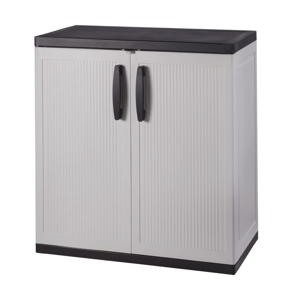 Best ideas about Resin Storage Cabinet . Save or Pin HDX 36 in H x 36 in W x 18 in D Plastic 2 Shelf Multi Now.