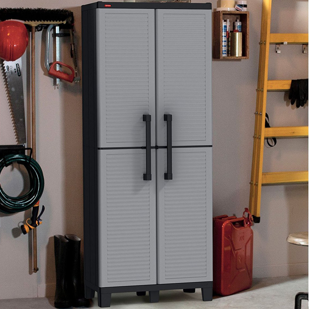 Best ideas about Resin Storage Cabinet . Save or Pin Keter Space Winner Adjustable Garage Storage Gray Resin Now.