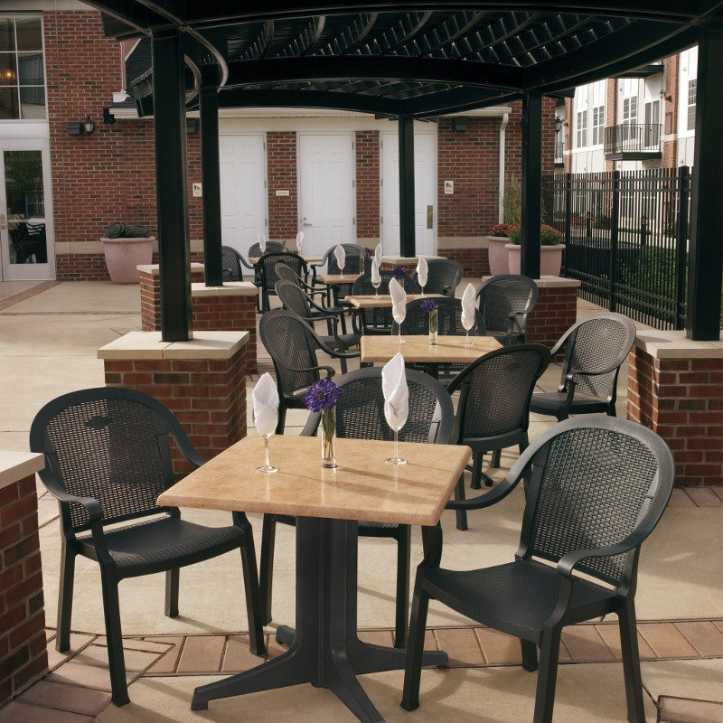 Best ideas about Restaurant Patio Furniture . Save or Pin mercial Outdoor Plastic Resin Restaurant Chairs Bar Now.