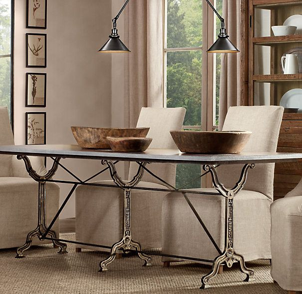 "Best ideas about Restoration Hardware Dining Table . Save or Pin 72"" Factory Zinc & Cast Iron Rectangular Dining Table Now."