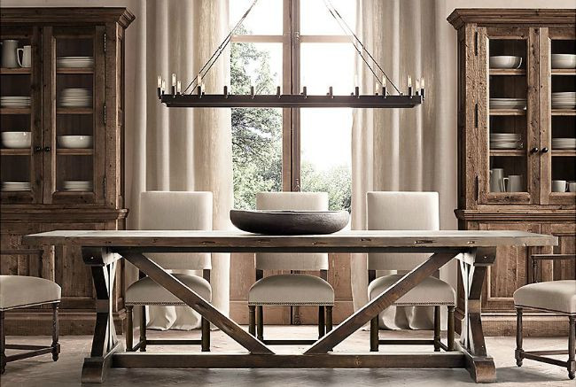 Best ideas about Restoration Hardware Dining Table . Save or Pin Favorite Farmhouse Trestle Tables & Progress on Our Now.