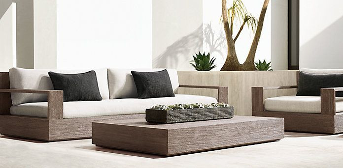 Best ideas about Restoration Hardware Outdoor Furniture . Save or Pin PATIO SEATING Marbella Collection Weathered Grey Teak Now.