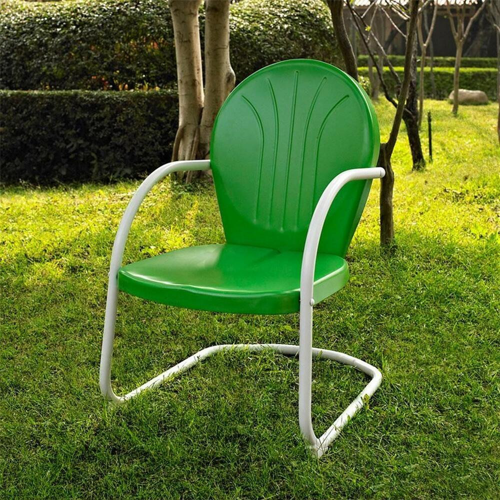 Best ideas about Retro Patio Furniture . Save or Pin Green White OUTDOOR METAL RETRO VINTAGE STYLE CHAIR Patio Now.