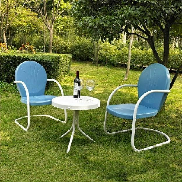 Best ideas about Retro Patio Furniture . Save or Pin Metal Patio Table And Chairs Retro Lawn Furniture Outdoor Now.