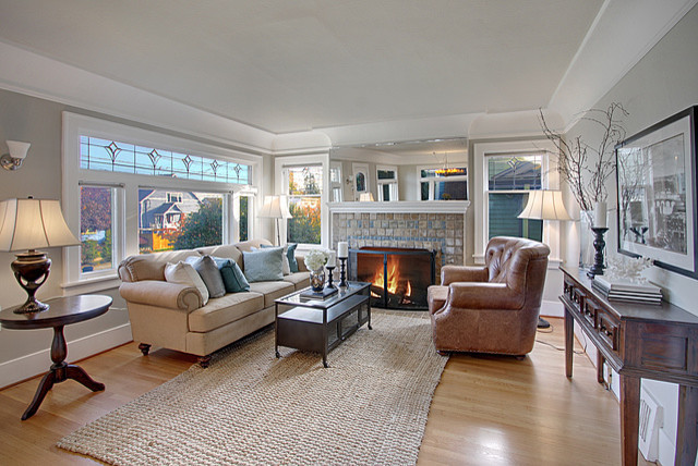 Best ideas about Revere Pewter Living Room . Save or Pin Ravenna Craftsman Living Room Traditional Living Room Now.