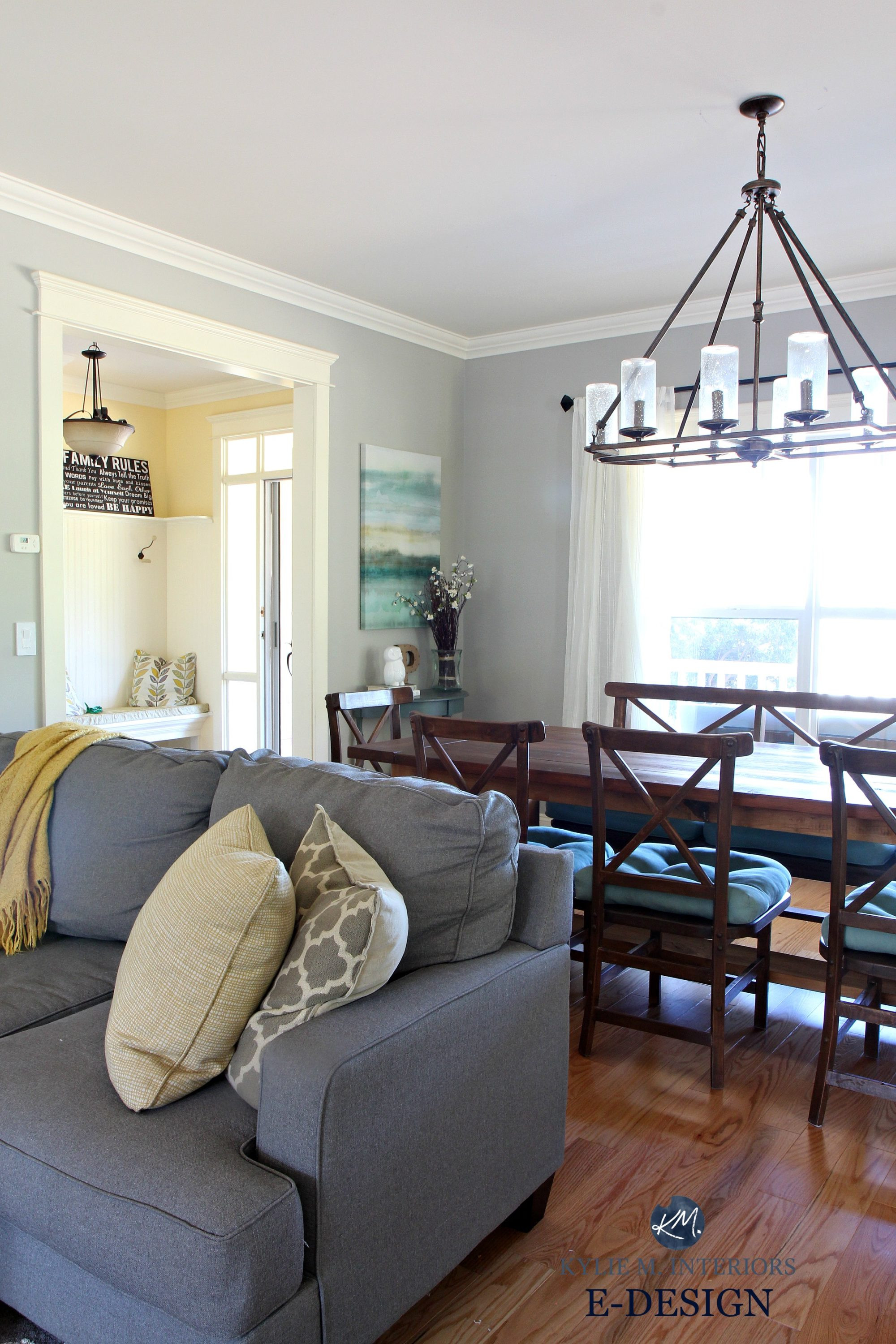 Best ideas about Revere Pewter Living Room . Save or Pin Benjamin Moore Revere Pewter in living room with gray Now.