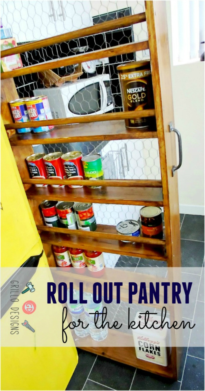 Best ideas about Roll Out Pantry . Save or Pin DIY Roll Out Kitchen Pantry • Grillo Designs Now.