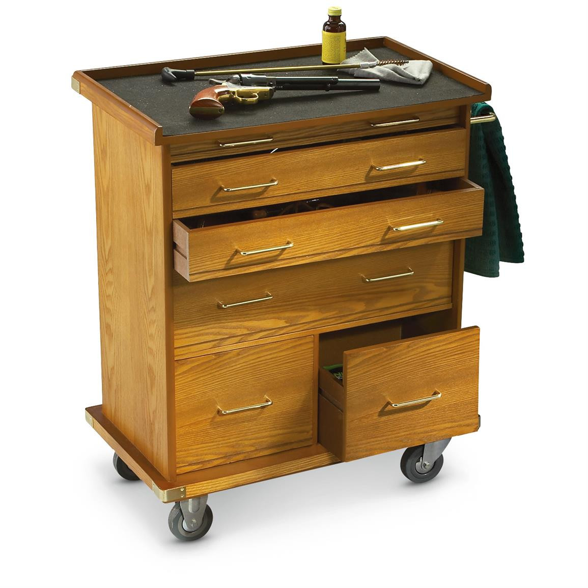Best ideas about Rolling Storage Cabinet . Save or Pin CASTLECREEK Wood Rolling Storage Cabinet Coins Now.
